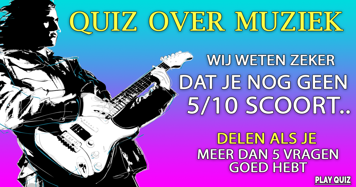 Pittige quiz over muziek